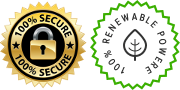 This site is 100% secure and running 100% on green energy
